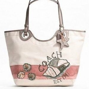 NWT Coach limited edition Seashell purse/tote